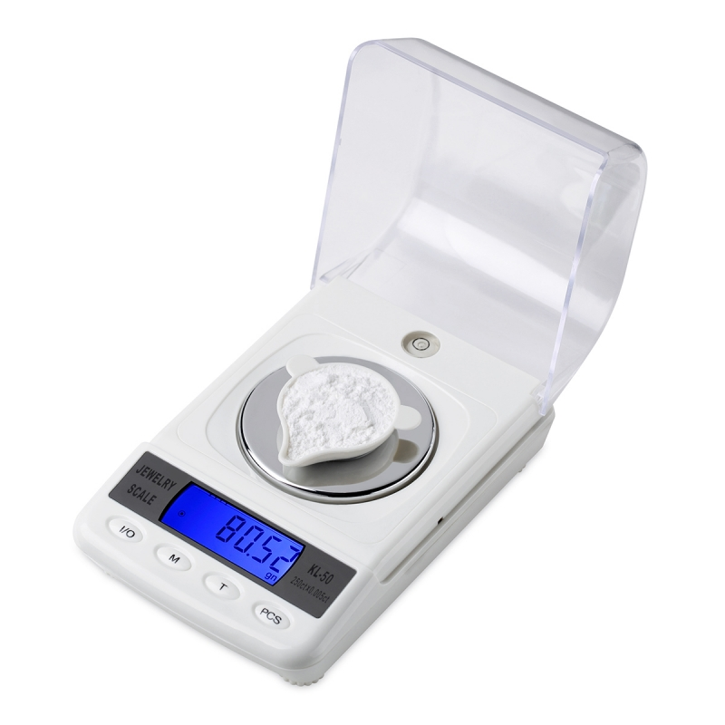 50g 0.001g LCD numérique bijoux balances précision diamant laboratoire Balance de poids médical électronique balances avec câble USB - 3