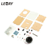 LEORY Universele LM386 Speaker Versterker Board DIY Kit Met Transparante Behuizing Audio Versterker Kit Shell DIY Computer Doos