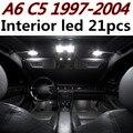 21 pcs X frete grátis Livre de Erros LED Interior Luz Kit Pacote para Audi a6 c5 rs6 acessórios 1997-2004