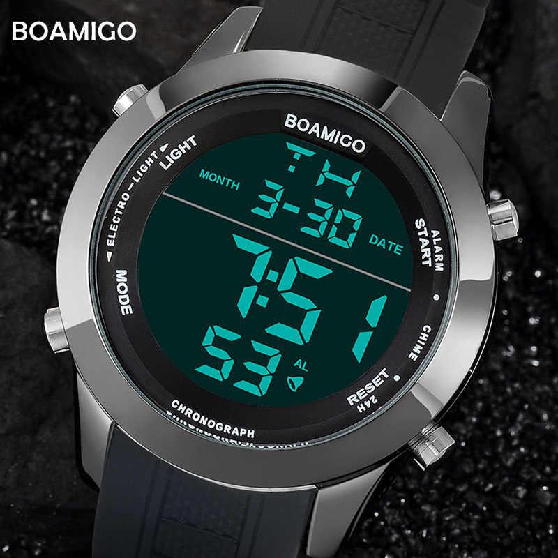 BOAMIGO ספורט כושר חכם דיגיטלי שעון גברים אופנה תצוגת LED עמיד למים שעוני יד באיכות גבוהה Dropshipping חדש 2019