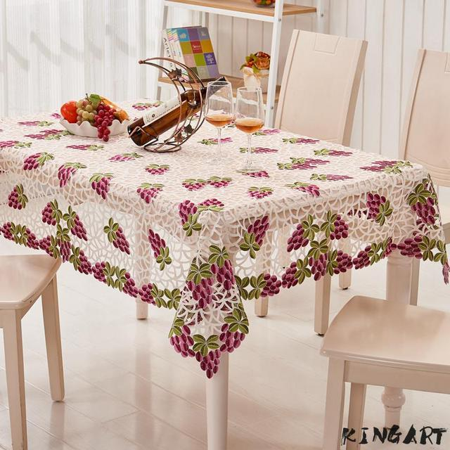 Wedding Embroidery Table Cloth Party Round Tablecloth Banquet Runner Square Tea Bedside Side Mantel Cover