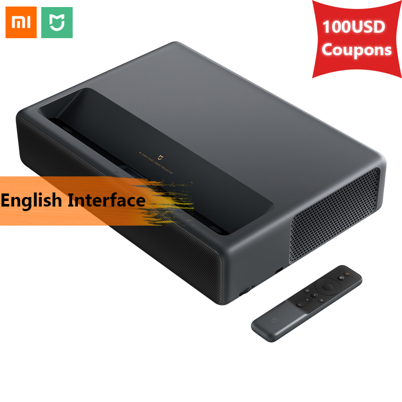 Original 2019 Xiaomi Mijia Laser Projection TV 4K Home Theater 200 Inch Wifi 2G RAM 16G English Interface Support HDR DOLBY DTS