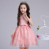 Elegant Fancy Sweet Lace Performance Show Flower Kids Girls Party Dresses Baby Clothing Teenagers Birthday Daily Ball Gowns