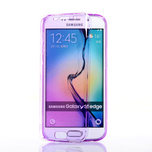 UMGG 360 Full Protection Silicone Clamshell Anti-knock Case For Samsung GALAXY S6 edge Plus Free Gift Free Dustproof Plug