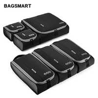 """BAGSMART New Breathable Travel Accessories 6 Set Packing Cubes Luggage Packing Organizers Bag Fit 24"""" Carry on Suitcase"""