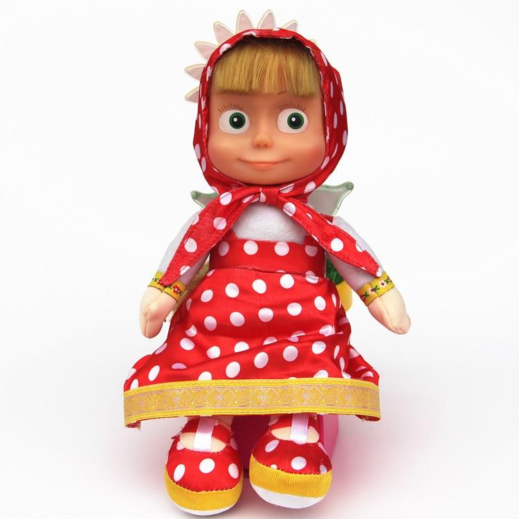 27cm Popular Masa Plush Dolls High Quality Russian Martha Masa PP Cotton Toys Kids Briquedos Birthday Gifts