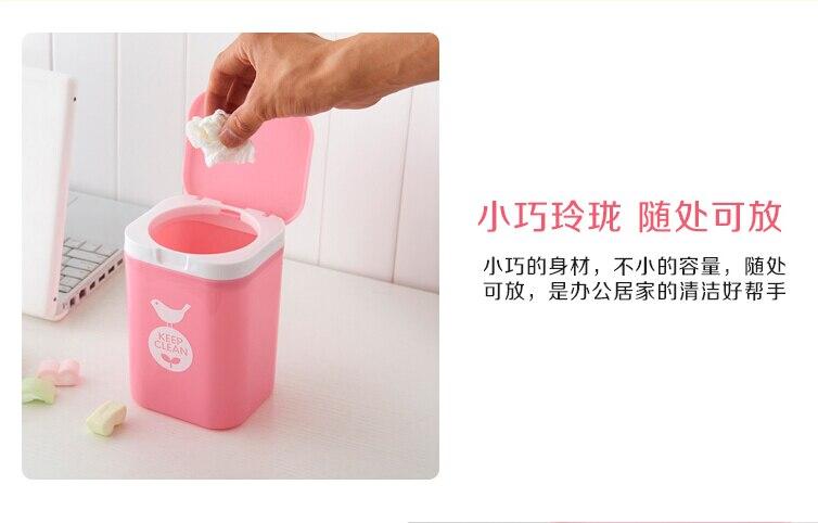 2018Sweet Lace Little Mini Desktop Trash Can Office Of Health Barrels Receive A Barrel Mini Dustbin Free Shipping LH0209