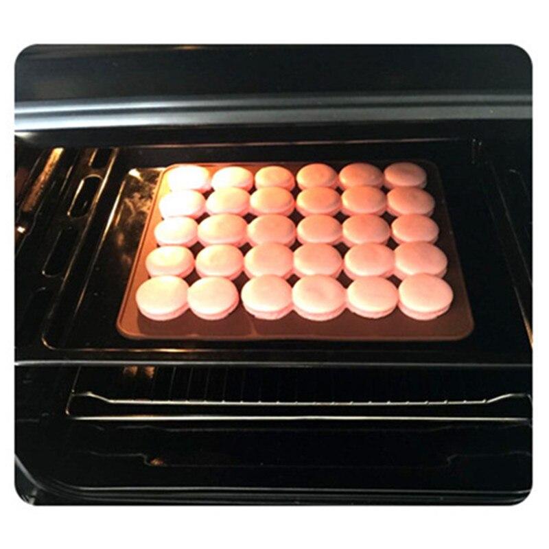 1 PC Macaron Silicone Mat 48 Holes Forma Redonda De Bolo Esteira De  Cozimento Liners Grau Alimentício SGS FDA Segurança DIY Bolo Baking  Silicone Pads Em ...