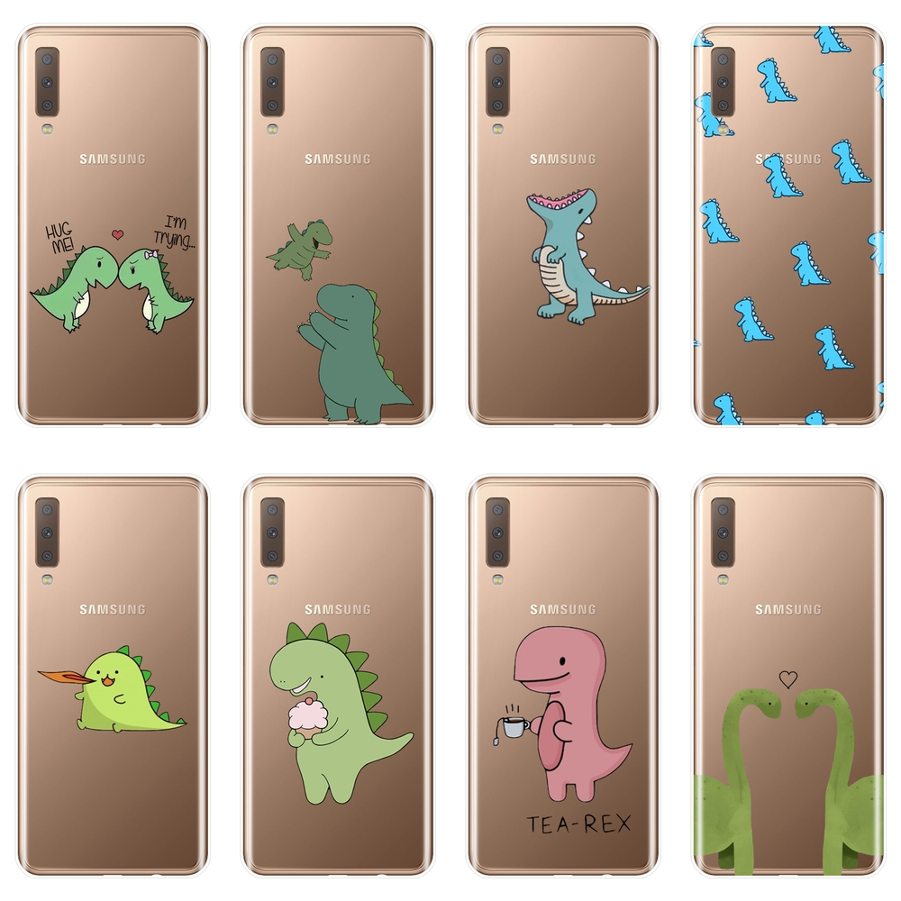 Dinosaurs Funny <font><b>Phone</b></font> <font><b>Case</b></font> For <font><b>Samsung</b></font> Galaxy A6 A8 Plus 2018 Soft Silicone Back Cover For <font><b>Samsung</b></font> A3 <font><b>A5</b></font> <font><b>2016</b></font> 2017 A6 A7 A8 2018 image