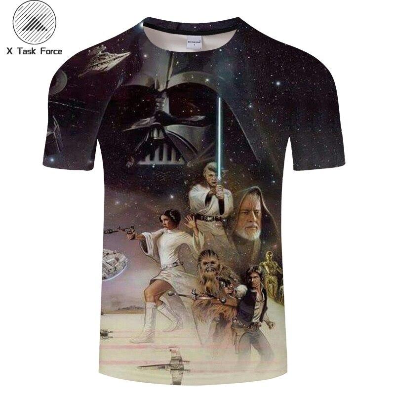 2019 T camisa Hombre Homme Camisetas Homens Camisetas Tshirts Novidade Robô de Star Wars UMA Nova Esperança 3D Impressão Masculino Engraçado tees S-6XL