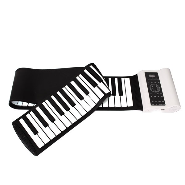 Professional 88 Key MIDI электронная клавиатура Roll Up пианино кремния Гибкая с педалью