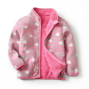 Image 4 - Autumn Winter Girls Jackets Fashion Lining Thick Fleece Warm Jakcet Coat Outerwear Kids Children Clothing Collar Kids Jackets