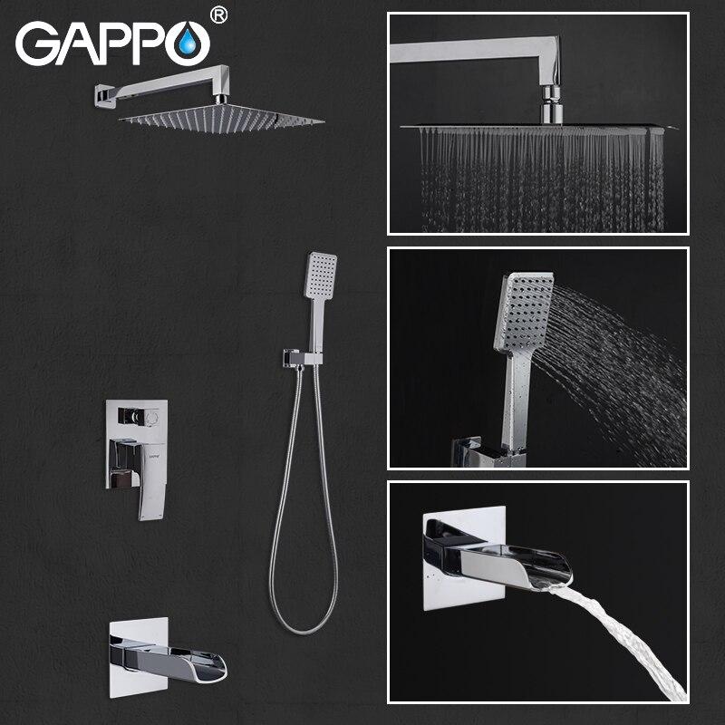 GAPPO bathtub faucets bath shower faucet set bathroom bathtub faucet shower head rainfall bath mixer tap