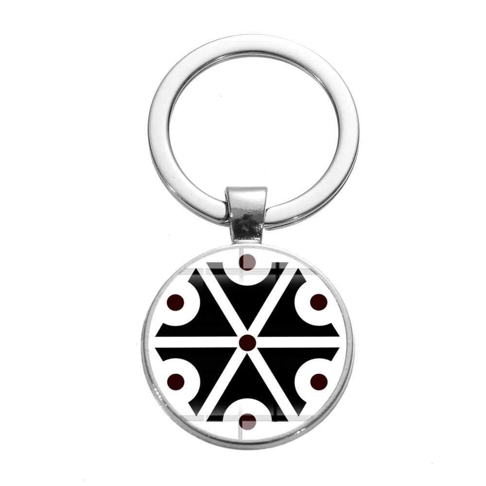 SONGDA древние славянские Thundermarks брелок славянские Thundermarks of Perun Symbol 3D напечатанный стеклянный кабошон брелок кольцо держатель