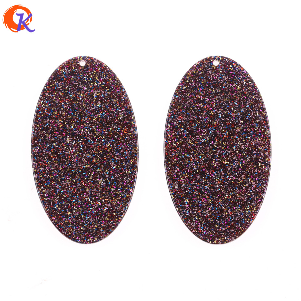 Cordial Design 34x60MM 20Pcs Jewelry Accessories/Earring Findings/Hand Made/Acetic Acid OVal Shape Bead/Earrings Jewelry Making