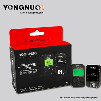 Yongnuo YN-622C TX+ Wireless flash trigger YN-622C  kit for Canon E-TTL camera 5d III 60d 7d 700d 60d 70d 1d 550d yn e3 rt ttl radio trigger speedlite transmitter as st e3 rt for canon 600ex rt new arrival