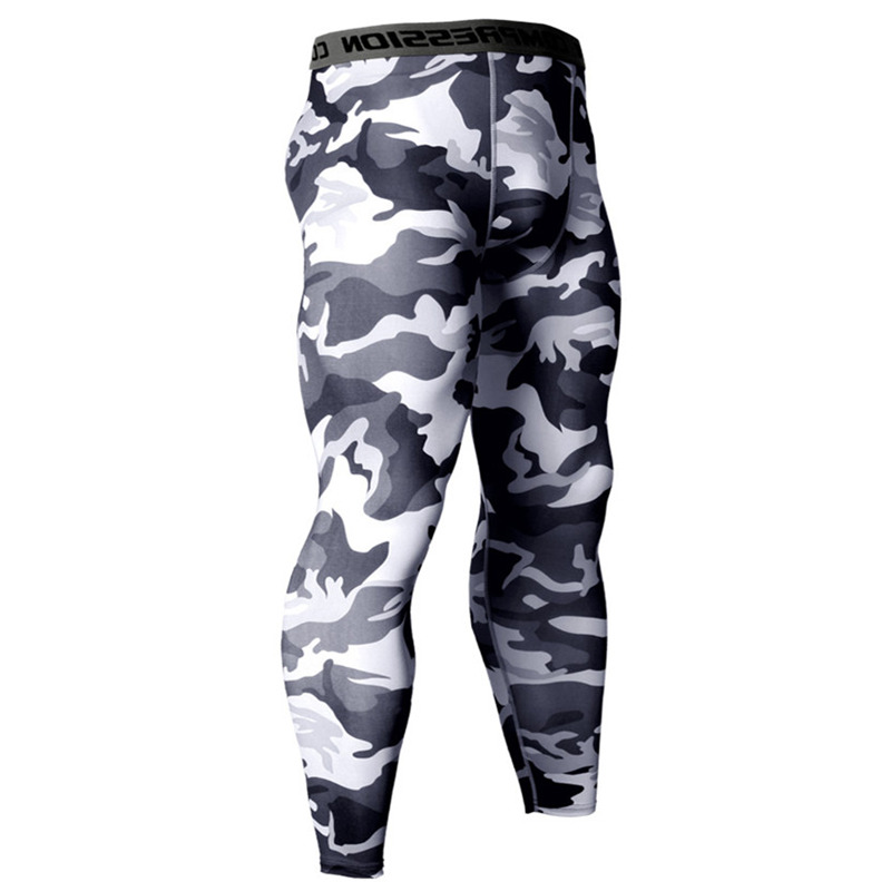 Camouflage Compression Tights Pants Men Gyms Fitness Sporty Leggings Male Joggers Workout Skinny Trousers Sportswear Bottoms