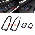 car-styling 4x Black Interior Door Window Switch Covers Molding Trim For BMW F30 F35 320 328