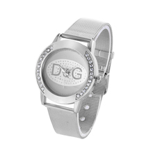 Big promotion 2018 Hot New Famous Brand Casual Geneva Quartz Watch Women Metal Mesh Stainless Steel Dress Watches kobiet zegarka