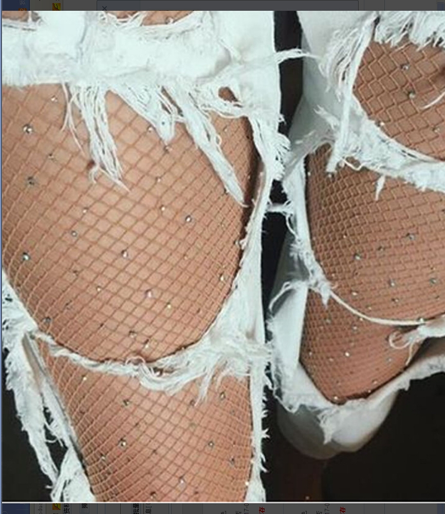 Women's Fashion Sexy Bling Crystal Rhinestone Fishnet Pantyhose Beige Black Color Tights Stockings