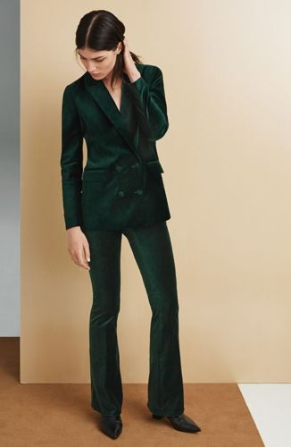 Women Navy Blue Velvet Sports Blazers Jackets Designer Stylish Party Wear
