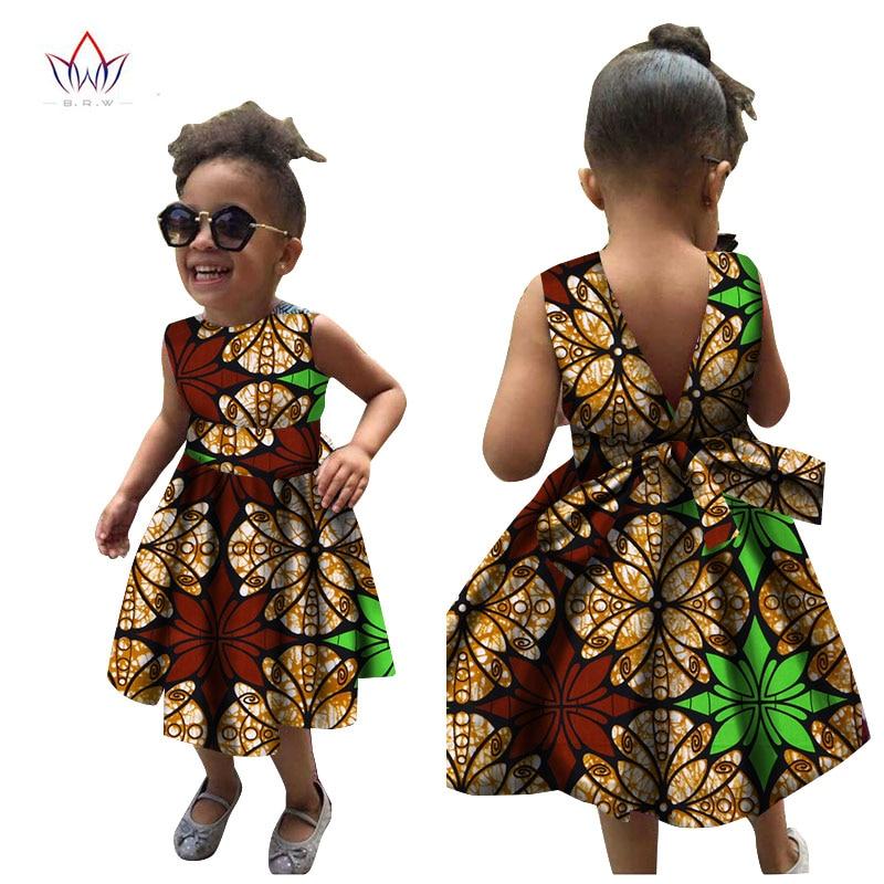 2019 Afrikanska kvinnor Kläder barn dashiki Traditionella bomull - Nationella kläder - Foto 2