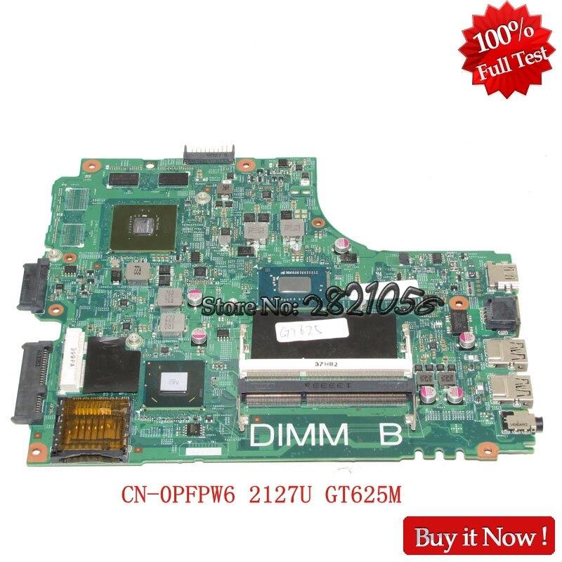 Nokotion Laptop Motherboard FOR DELL INSPIRON 2421 3421 5421 CN-0PFPW6 2127U GT625M 12204-1 DNE40-CR PWB:5J8Y4 REV:A00 Tested nokotion brand new qcl00 la 8241p cn 06d5dg 06d5dg 6d5dg for dell inspiron 15r 5520 laptop motherboard hd7670m 1gb graphics
