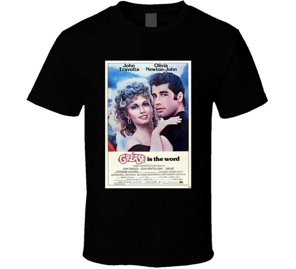 Tees Brand Clothing Funny T Shirt Short Grease Cool 70s Comedy Vintage Classic Movie Poster Fan T Shirt Men Graphic O-Neck