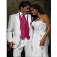 2017 Rushed Classic Style Groom Tuxedos 3 Color Groomsman Suit Custom Made Man As Wedding Homecoming Suits (jacket+pants+vest)