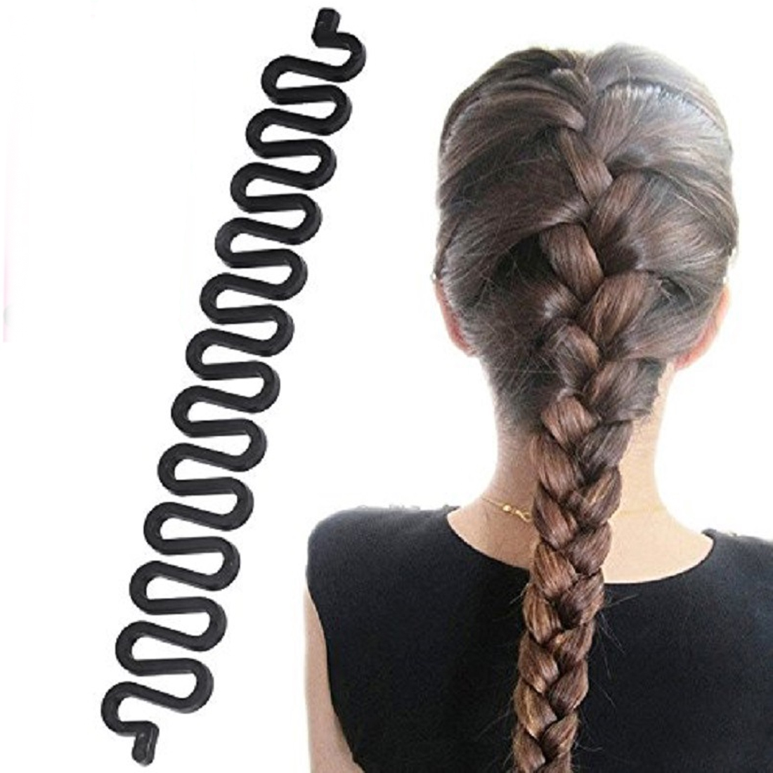 Sale 1 PC Women Hair Twist Styling Hair Band Accessories Disk Device Hairpins DIY Fish Bones Hair Fish Bone Braiding Hair Clip in Women 39 s Hair Accessories from Apparel Accessories