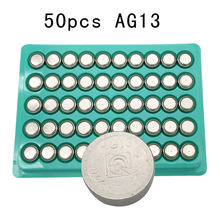 50Pcs LR44 357A A76 303 AG13 SR44SW SP76 L1154 RW82 RW42 1.5V Battery Alkaline Button Cell watch toys Batteries(China)