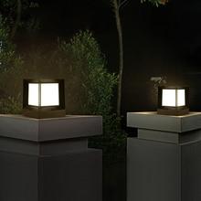 JLAPRIR освещение открытый светодиодный светильники на столбы на солнечной батарее IP65 Водонепроницаемый парк жилой колонны светильник Ландшафтный Газон лампа