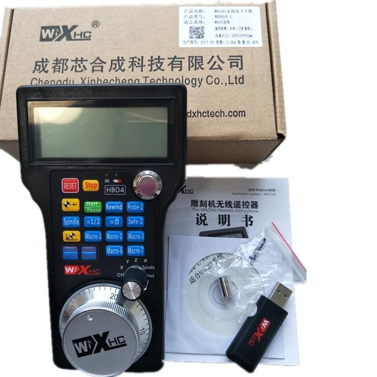 Free Shipping Wireless Mach3 MPG Pendant Handwheel for CNC Mac.Mach 3, 4 axis Wholesale Price (HandWheel-04) цена