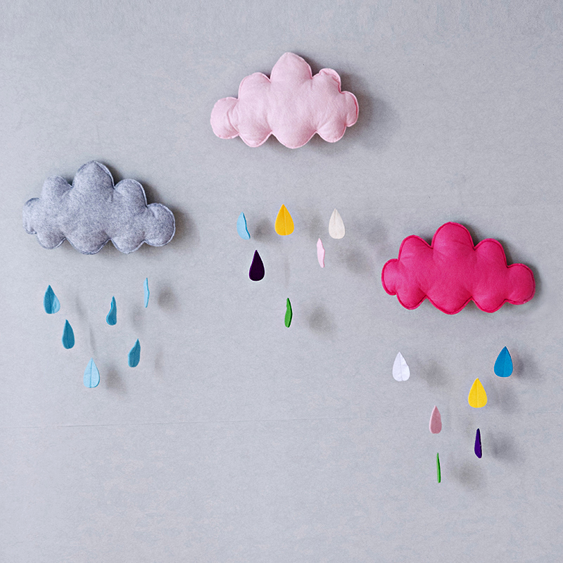 Nordic Cloud Shaped Kids Baby Wall Room Decor Mobile Room Accessories Ornaments ...