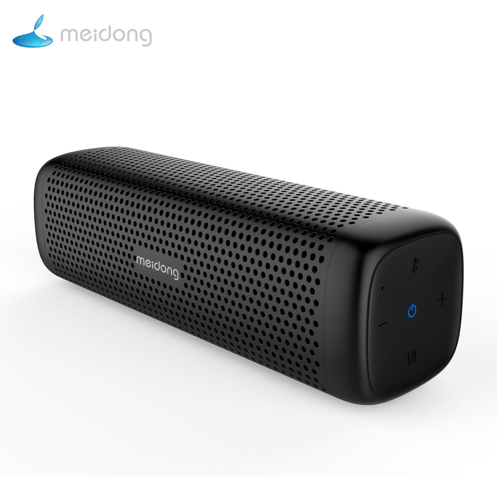 Original Meidong MD-6110 Portable wireless Bluetooth Speaker Stereo 15W TF Music Subwoofer Metal Speakers for Compute Outdoor exrizu ms 136bt portable wireless bluetooth speakers 15w outdoor led light speaker subwoofer super bass music boombox tf radio