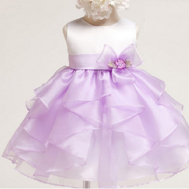 ФОТО 2016 Baby Christening Flower Infant Princess Baptism Dress Toddler Baby Girls Birthday Dress Newborn Wedding Party dress 1 year