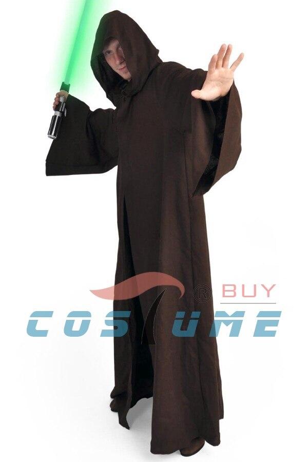 Star Wars Anakin Skywalker/Darth Vader Jedi traje adulto con capucha capa hombres Halloween Cosplay traje negro marrón Albornoces S -XXXL