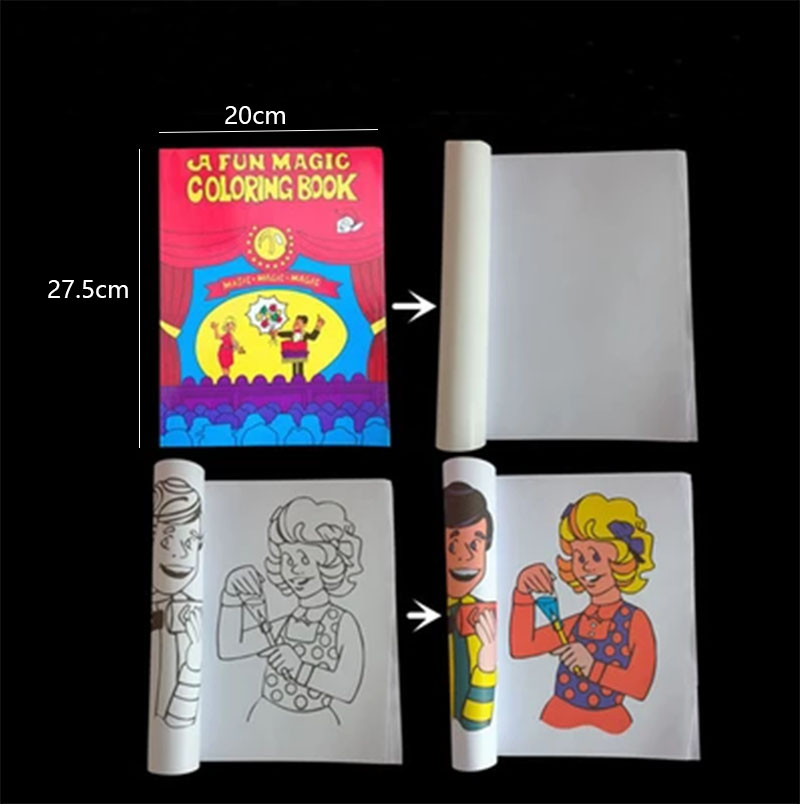 aliexpresscom buy a fun magic coloring book large size magic tricks mentalism stage magic propscardmagic accessories 400magic from reliable magic - Magic Coloring Book