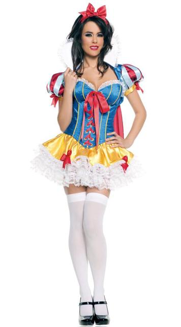 342c5cffc New mulheres roupa trajes de festa branca de neve princesa Halloween  Cosplay carnaval vestido de rainha