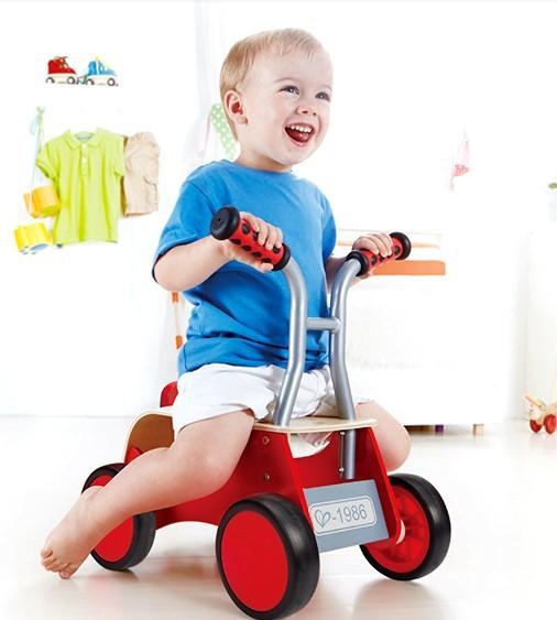 Bicicleta niños de tráfico ideas caminantes vespa de madera juguetes educativos Del Bebé para los niños