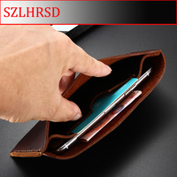 SZLHRSD Genuine Leather Wallet Case For Sony Xperia L2 XA XZ XZ2 L1 R1 Z5 Compact XA Ultra XZ2 Premium Pouch Cases bag