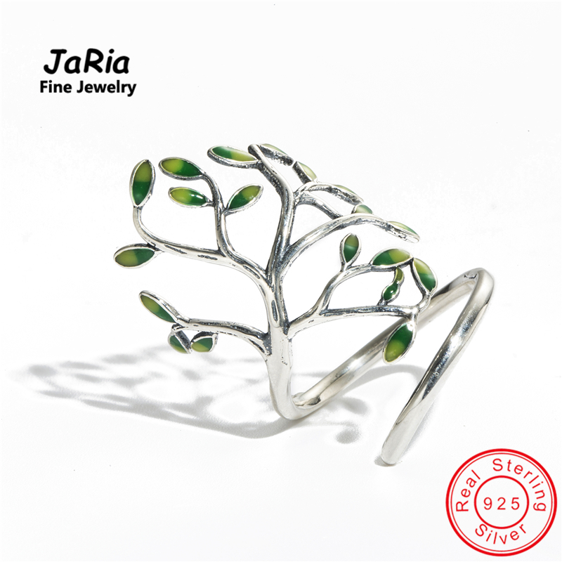 JaRia Fine Jewelry Newest Handmade Sterling Silver 925 Jewelry Tree Shaped Wraped Ring Trendy Design Women