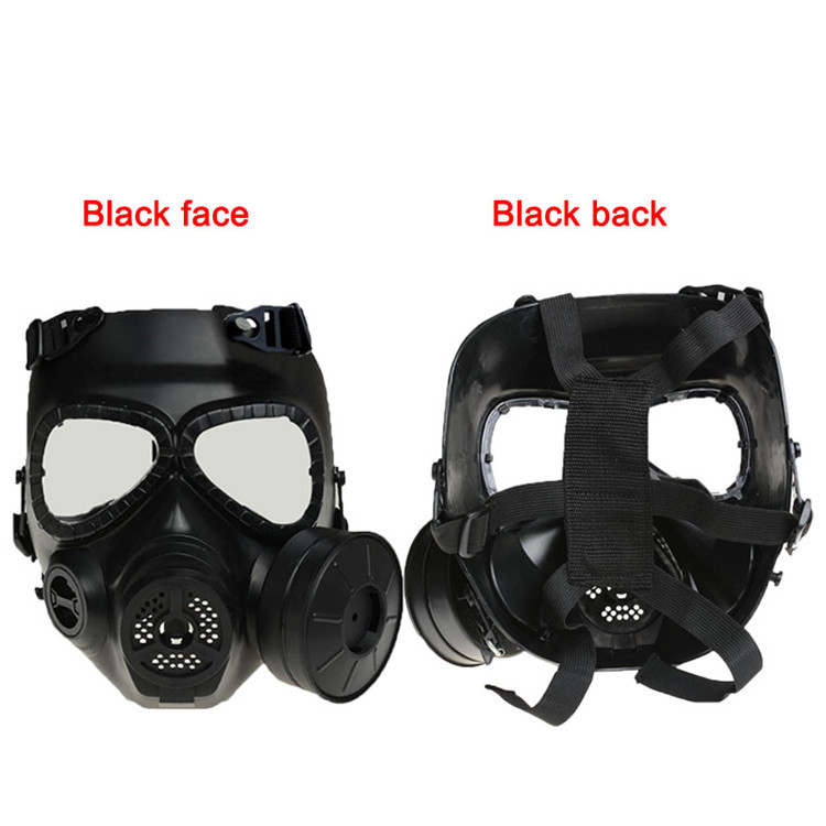 Back To Search Resultshome Black Or Green Color Tactical Plastic Mask Resin Full Face Gas Masks With Fan Cs Airsoft Mask