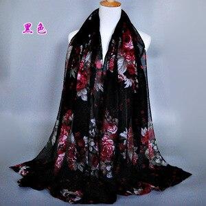 Image 5 - Grande Stampato Balinese Sciarpe di Cotone Hijab Delle Donne Casual Lungo e sottile Sciarpa Involucro Musulmano Foulard Floreale Dello Scialle Arabo Etnico 180x90 centimetri