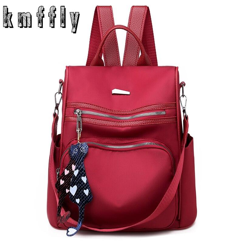 Oxford Backpack Mochila School-Bag Girls Bookbag Multifunction Anti-Theft Women Feminina