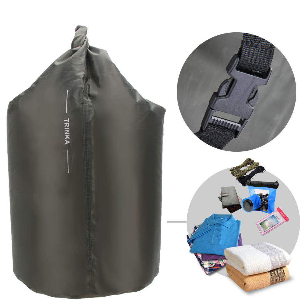 Portable 70L Waterproof Dry Bag Outdoor Camping Phone Holder Clothes Compressed Upstream Bag Water Sports Canoe Kayak Rafting