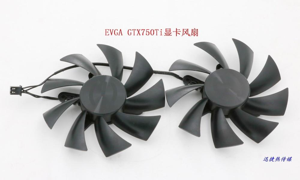 New Original FONSONING PLA09215B12H 12V 0.55A for EVGA GTX750Ti graphics card cooling fan 4pin mgt8012yr w20 graphics card fan vga cooler for xfx gts250 gs 250x ydf5 gts260 video card cooling