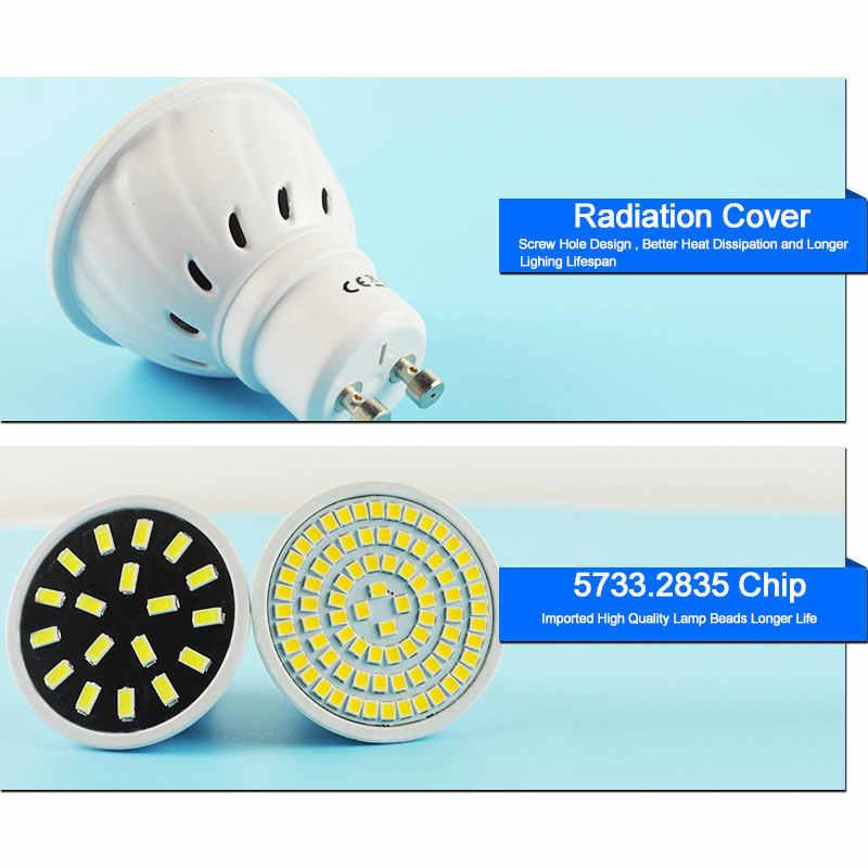 Светодиодный прожектор лампы Bombilla светодиодный GU5.3/MR16 GU10 AC 220 V 4 W 6 W 8 W 9 W SMD 5730/2835 светодиодный прожектор лампа колба в виде лампады ампулы Lampara