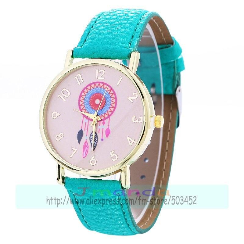 100pcs lot Dream Chaser leather watch no logo gold case wrap quartz casual watch wholesale wristwatch