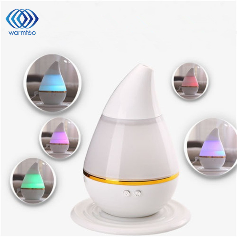 Mini Portable LED Light USB Ultrasonic Air Humidifier Water-Drop Shape Mist Maker Aroma Diffuser For Car Home Office night light desktop mini portable automatic power off humidifier air humidificador mist maker usb diffuser